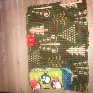 Christmas home mat & hand towels